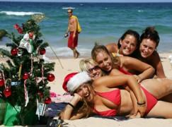 australians on beach