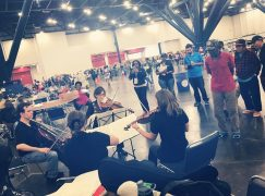 Houston Symphony players get out among the homeless