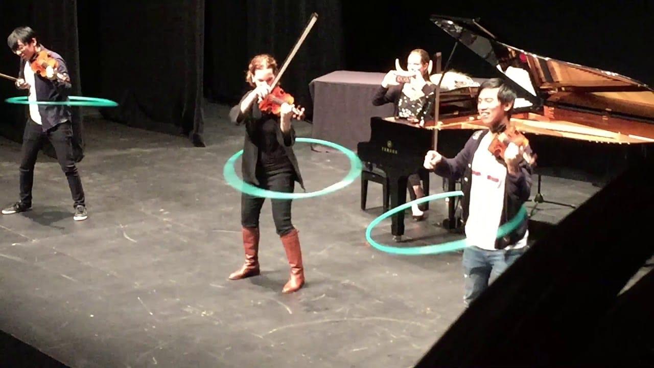Watch Hilary Hahn play Mozart in a hula hoop