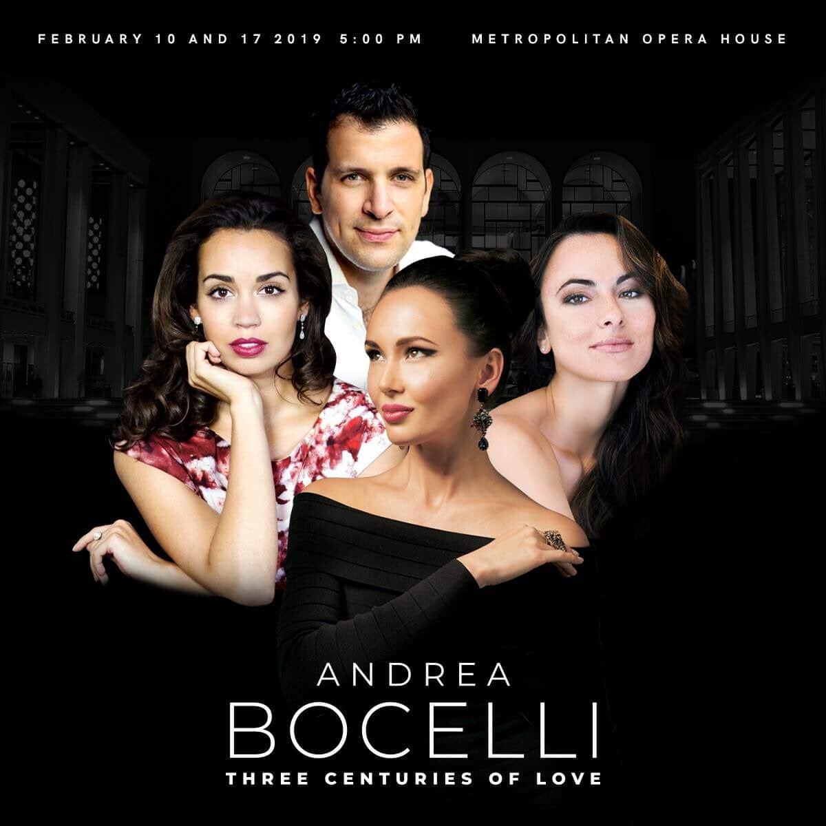 Four stars share Met stage with Andrea Bocelli